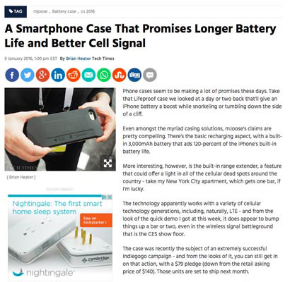A Smartphone Case That Promises Better Cell Signal